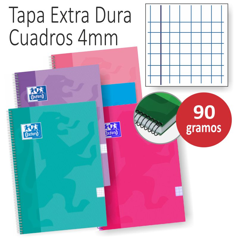 libretas oxford tapas extraduras colores tendencia