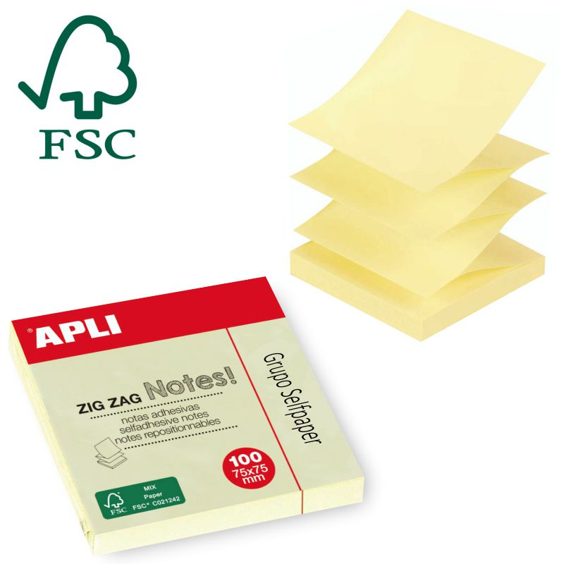 Comprar Notas Adhesivas Apli en Z, Zig Zag, tipo Post-it Z-notes