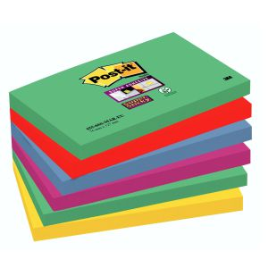 Post-It colores Marrakesh, Pack 6 tacos de notas 76x127