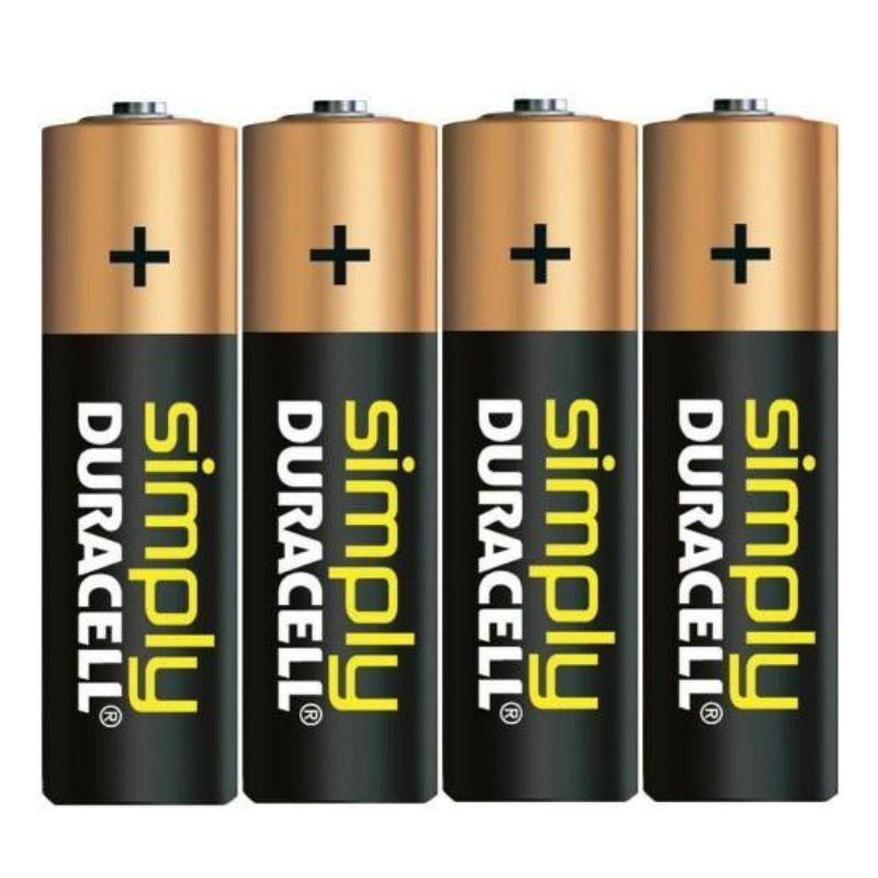 pack 4 pilas alcalinas duracell symply aa lr6