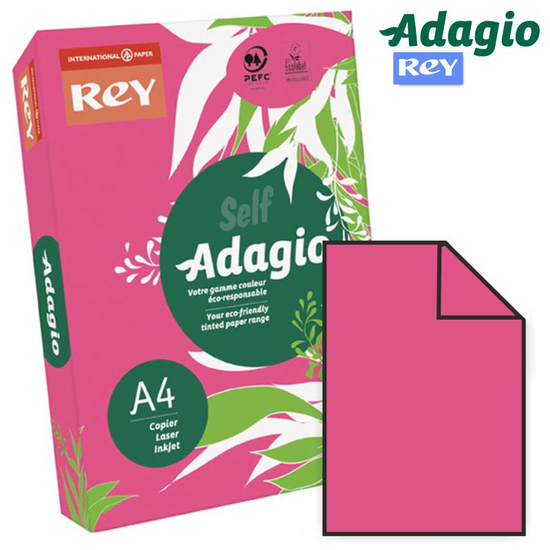 papel color rosa intenso vivo fucsia a4 adagio