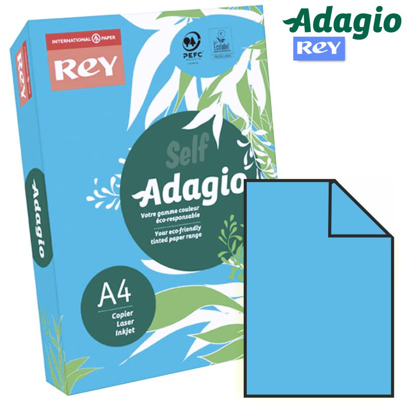 papel din a4 color azul intenso vivo adagio 51