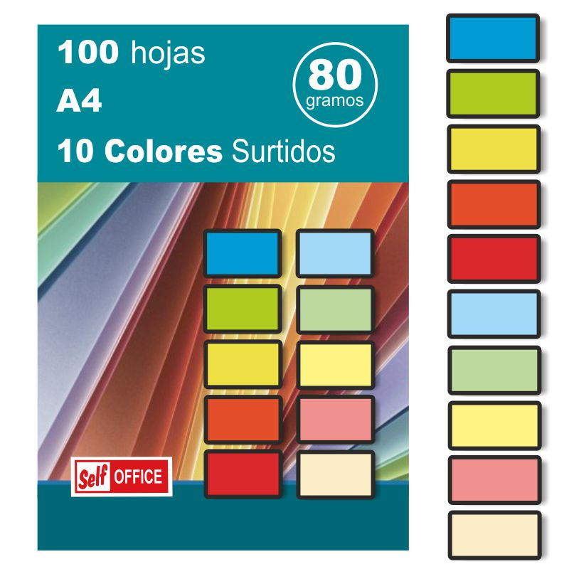 papel din a4 de colores 28308 liderpapel pc 52