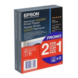 Epson Premium Glossy Photo Paper 10x15 - Pack 2 x 1