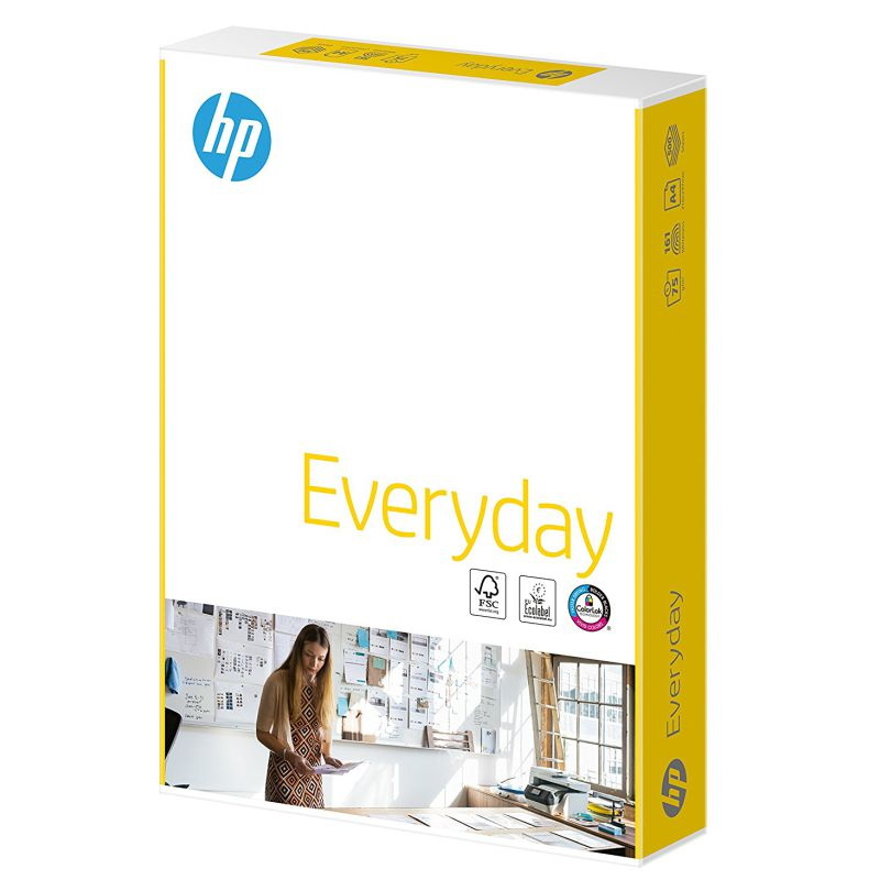 papel hp everyday, uso diario, 75 gramos
