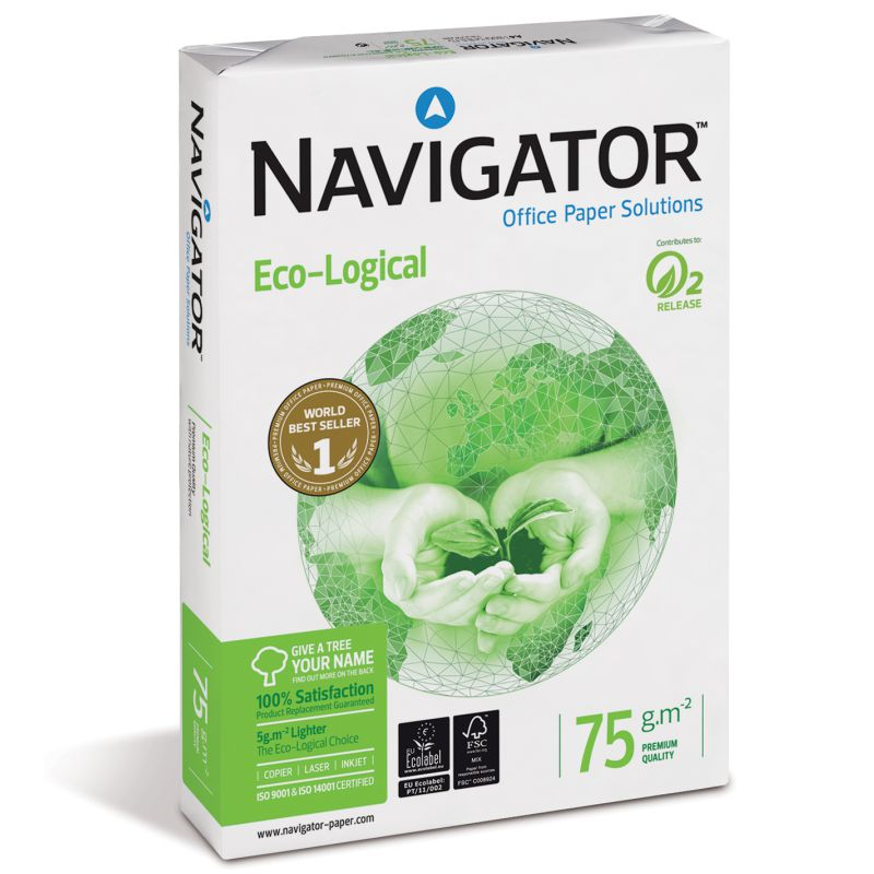 papel navigator eco logical din a4 500 hojas 75 gr