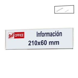 Placa tipo metacrilato pared portanombres 210x 60 mm