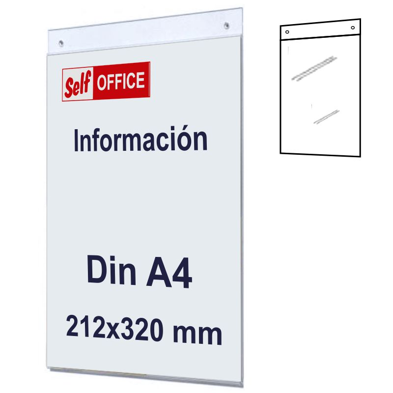 Comprar Placa tipo Metacrilato para Pared Din A4 Vertical