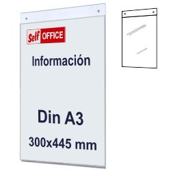 Placa pared transparente Din A3 tipo metacrilato