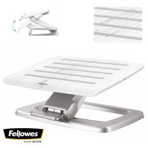 Reposapiés Autoajustable Fellowes Hana blanco