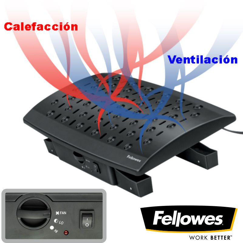 reposapies fellowes climate ventilacion frio calor