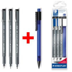 Staedtler Pigment liner calibrados Pack 02 04 08 rotuladores