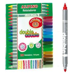 Rotuladores Alpino double 20 colores - doble Punta