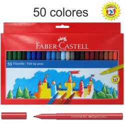 Rotuladores Faber-Castell 50 Colores, lavables