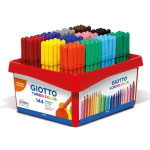 Schoolpack Gioto Turbo color con 144 rotuladores Classbox