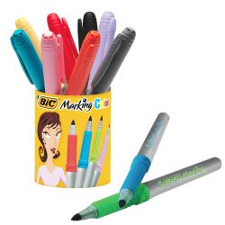 Bote de 9+1 Marcadores Bic Color Marking colores