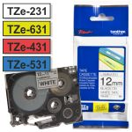 Cinta Rotuladora brother 12mm TZe-231 TZe-631 TZe-431 531