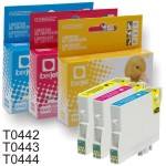 T0442 T0443 T0444 Epson - Cartucho compatible cada color