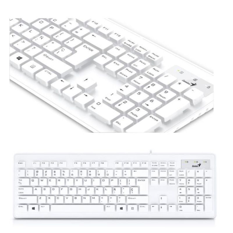 teclado usb color blanco genius slimstar 130