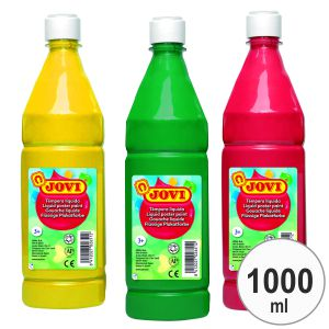 Tempera Jovi 1 litro, botella 1000 ml verde medio