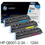 HP Q6001A Q6002A Q6003A 124A toner original cada color