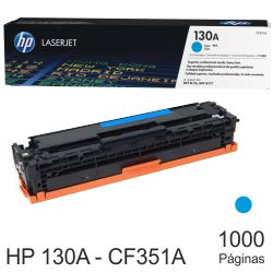 HP CF351A Toner original 130A color azul cyan