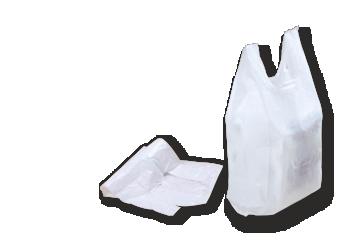 Bolsas con asas, de plástico