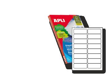 Etiquetas Din A4 APLI - impresora o fotocopia