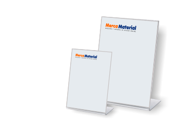 Expositor inclinado de sobremesa,